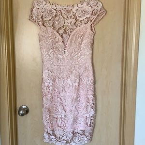 NWT Gorgeous pink lace dress!